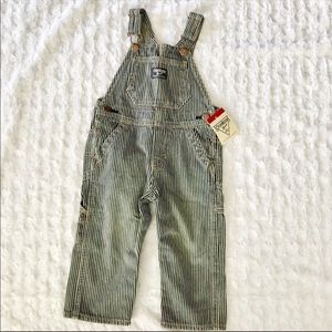 OshKosh striped overalls NEW with tags 18 months